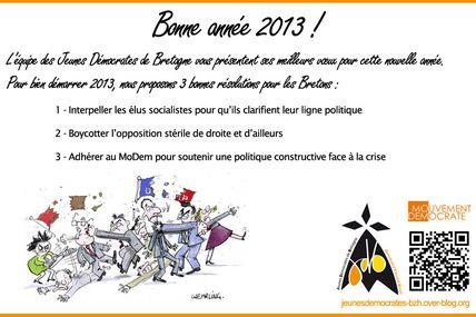 3 bonnes résolutions pour l'année 2013