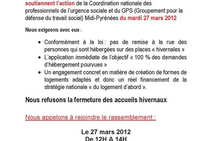 La FNARS & le Collectif Inter-association appellent à rejoindre le rassemblement du 27 mars:
