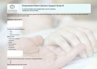 The empowered patient decision support app