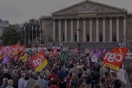 Salariés et parlementaires en lutte pour les retraites