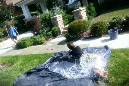 How to Make your own Slip N Slide...