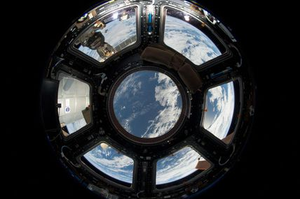 Astronauts' view of Earth from the International...