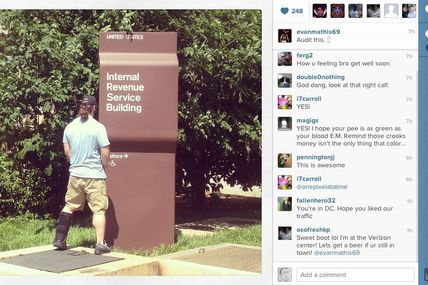 'Audit This': NFL Player Instagrams Himself Peeing on IRS Building