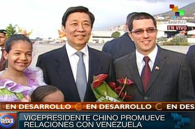 (VIDEO) Vicepresidente chino arribó a Venezuela...
