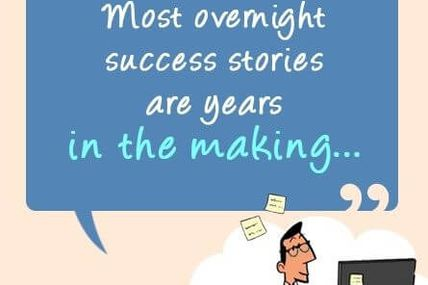 There's No Such Thing As an Overnight Success...