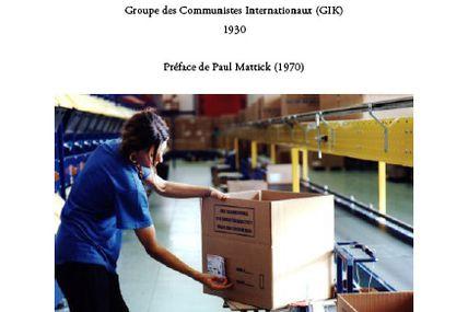 Fondements de la production et de la distribution communiste (GIC, 1930)
