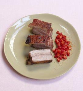 Travers de porc à la fraise
