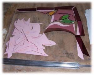 Etapes de réalisation d'un vitrail au plomb