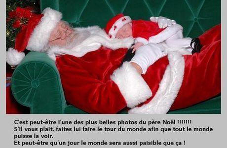 Superbe photo du Père Noël