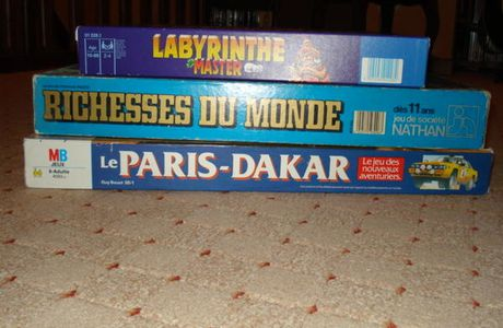 paris dakar / carcassonne / scrabble