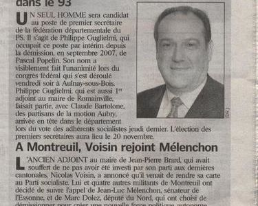 Article du Parisien du 10 novembre 2008