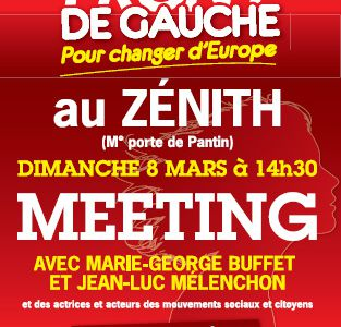 Meeting au Zénith à Paris le 8 mars