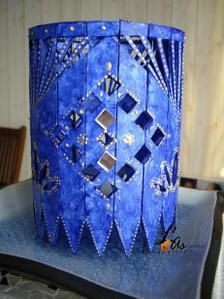 Petit abat-jour bleu ryad
