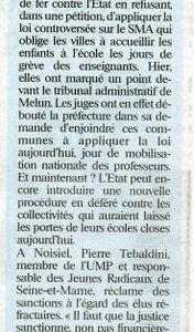 Pierre Tebaldini dans la presse
