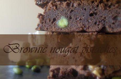 Brownie nougat & pistaches sous une onctueuse glace vanille maison