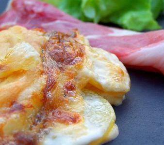 Gratin de pomme de terre, reblochon & Jambon de pays