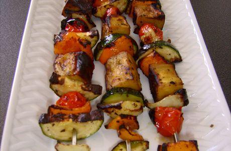 Brochettes de légumes croquants...