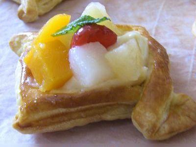 Feuilletés pâtissiers aux fruits