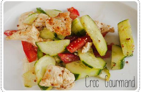 Salade de poulet et concombre