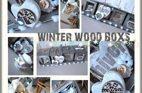 Nouveau Kitscrap - Winter Wood Boxs