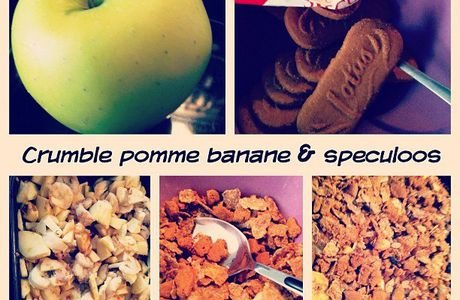 Crumble pomme, banane & Speculoos