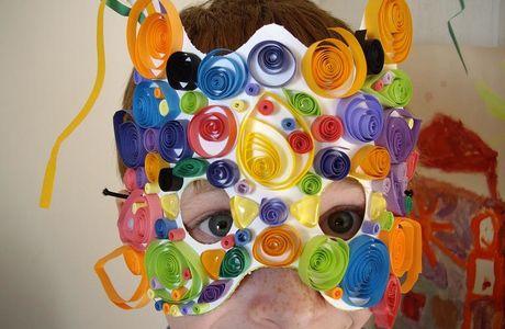 Masque en quilling...