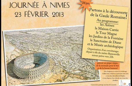 Sortie à Nîmes 23 février 2013