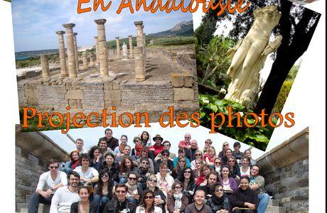 Projection des photos du voyage en Andalousie !
