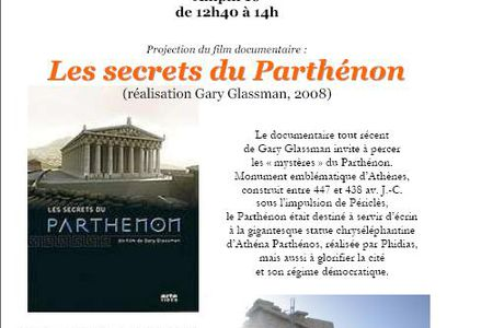 "Projection ""Les secrets du Parthénon"" - 19/01/2010"