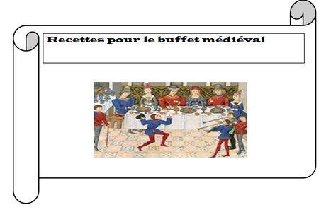Un buffet médiéval à l'école.