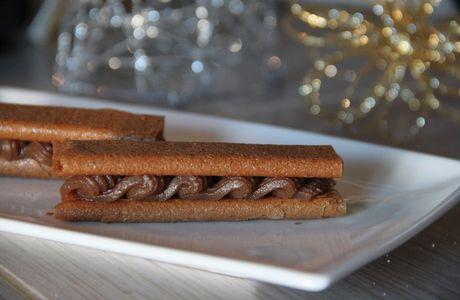 Spécial fêtes : Crêpes dentelles à la crème de marrons