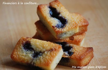 Financiers à la confiture