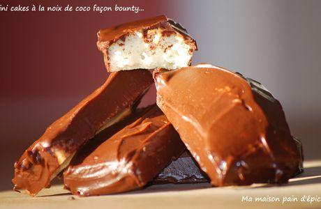 Mini cakes la noix de coco façon bounty