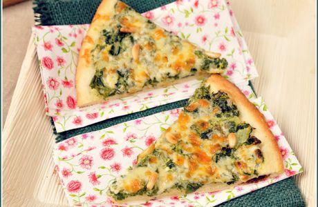 ❀ Pizza verde {blettes et pignons de pin} ❀