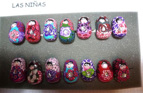 "La collection des ""Muñecas rusas""."