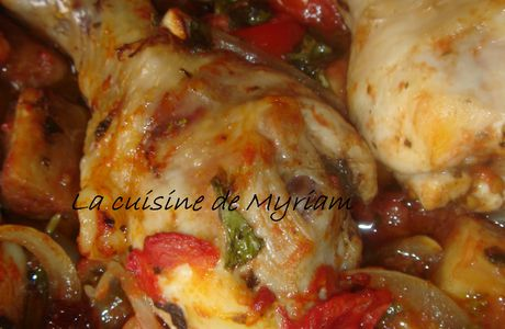 Poulet au four version sicilienne