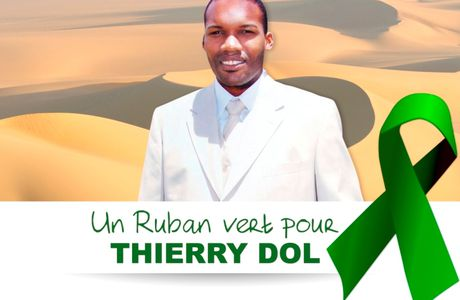 Quand on accroche un ruban vert pour Thierry...