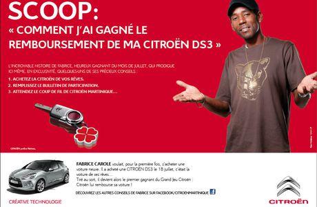 Quand Fabrice Carole gagne le remboursement de sa Citroën DS3...