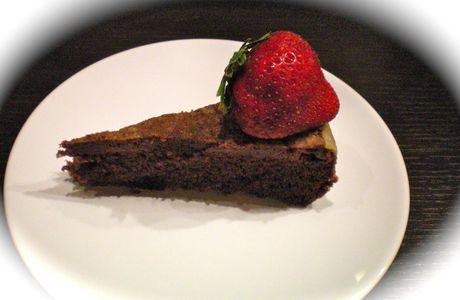moelleux au chocolat noir et aux fraises ….