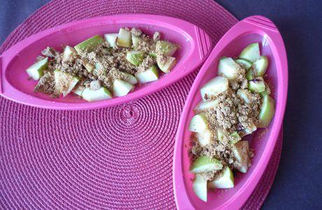 Pommes à l'infusion, et au miel en papillote