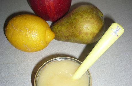 Compote pommes-poire-citron
