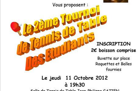 Tournoi Etudiants le 11/10/2012