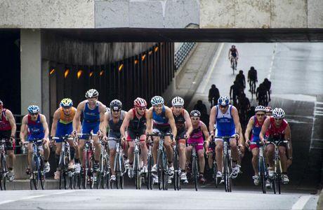 triathlon de paris, chute et rechute