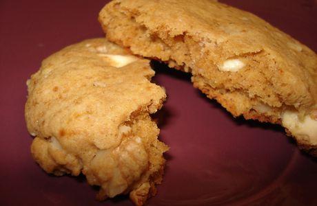 Cookies chocolat blanc - noix - gingembre