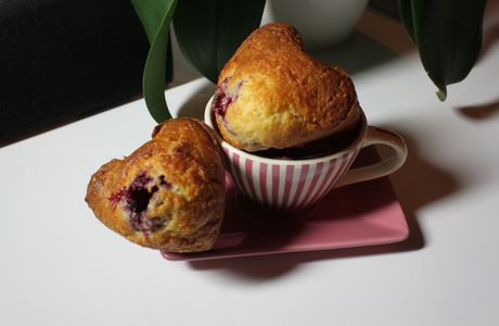 Muffin léger amande/framboise