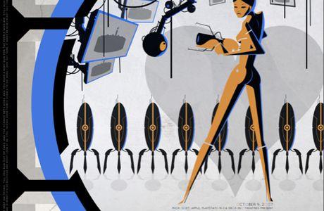 [en haut de l'affiche] Portal 2 version affiche de vieux film