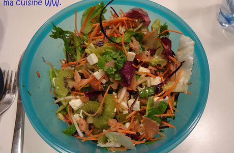 Salade kiwi-saumon-feta