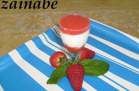 Verrine aux fraises