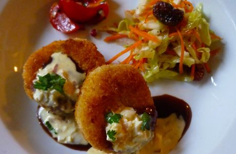 Japanese potato croquettes and Obento for Oct 27