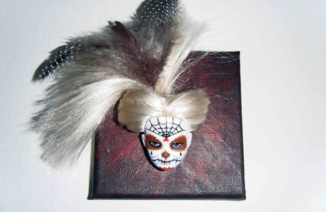 Tableau Barbie Mexican Skull